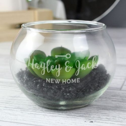 Personalised New Home Glass Terrarium